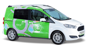 Ford Courier-Zipcar Logolu